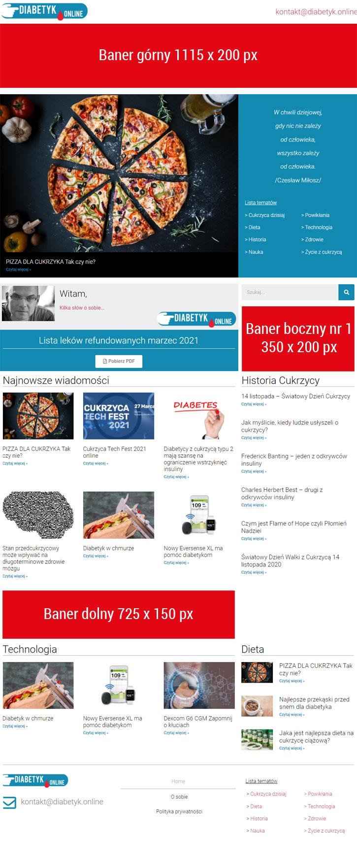 Reklama na Diabetyk Online